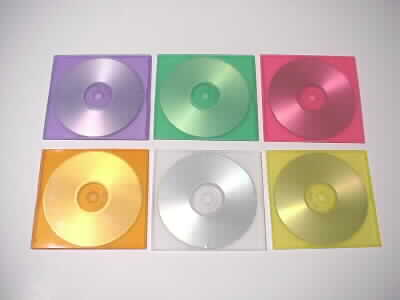 CDR in colour slim pp plastic or slim hard plastic CD jewel case.
